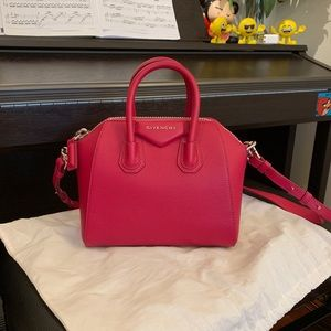 New Auth Givenchy Antigona Bag in Fushia Color